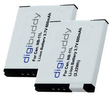2 x Qualitäts-Akku für Canon PowerShot SX400 IS, SX410 IS  - NB-11L, NB-11LH