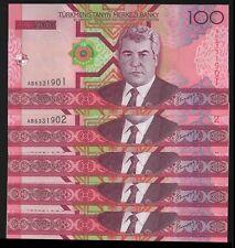 Turkmenistan 100 MANAT 2005 P 18 UNC LOT X 5 PCS OFFER !