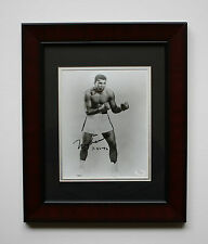 """MUHAMMAD ALI SIGNED FRAMED 14""""x18"""" PHOTO DATED 7/26/92 JSA AUTHENTIC LETTER"""
