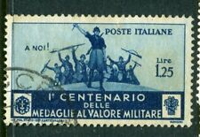 Italy. 1934 1.25L military blue used