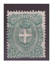 REGNO 1896 -   STEMMA DI SAVOIA  -  CENTESIMI  5      NUOVO *