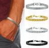 Silver Men's Stainless Steel Keel Chain Link Bracelet Wristband Bangle Jewelry