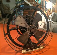 "Antique 16"" Westinghouse 4 Brass Blade Vane Fan, Late 1800s Alternating Current"