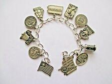 bracelet=historical & landmarks vintage sterling Pennsylvania charm