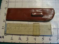 vintage Pocket Slide Rule:  PICKETT model 20 Basic in sleeve, METAL RULE,