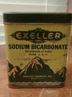 Vintage Tin Exeller Brand Sodium Bicarbonate Brooklyn, N.Y. 1940's