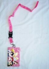 Pink Disney Princesses Lanyard Zipper Wallet Pouch Fast Passes ID Badge Holder