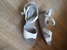 Clark's Softwear White Wedge Sandal Size 6.5