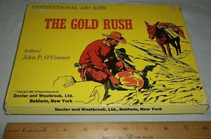 Vintage The Gold Rush 1967 USA Instructional Aid Kit Homeschool Supplies Dexter