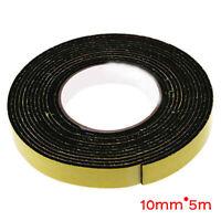 Black Single Sided Self Adhesive Foam Tape Sponge Rubber Strip Door Seal Window.