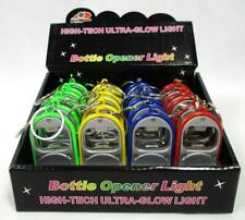 Lot of 24 Beer Bottle Opener Key Chain Flashlight Led Light C-Store Party Favor