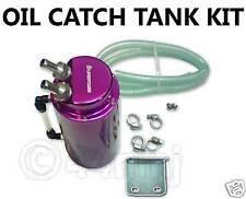 Purple Round OIL CATCH TANK / PCV + Fitting Kit