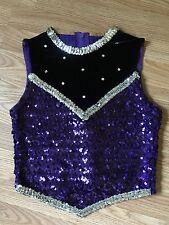 Never Worn Dance Sophisticate Sequin Recital Costume Top ~ Jazz Shirt- Adult-