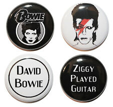 """1"""" (25mm) David Bowie Button Badge Pin Set - Music & Gift - MADE IN UK"""