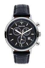Gigandet Classico Herren Chrono Armbanduhr Datum Lederarmband schwarz G 6 004