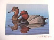 Florida 1988 Waterfowl Stamp and Limited Edition signed Print by Ronald J Louque