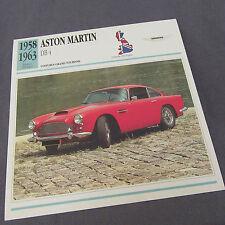 480C Edito Service Fiche Dépliant Aston Martin DB 4