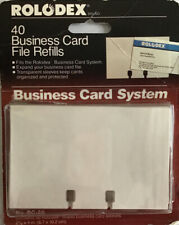 Rolodex 40 Business Card File Refills Fits 2 58x4 In New Package Shows Wear