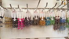 Joblot of 50 Pairs Mixed color crystal Dangly  Earrings - NEW Wholesale
