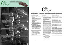 Fish Lolly Chocolate Candy Mold, In Sealed Poly Bag w/Instructions