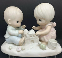 """VTG Precious Moments God Bless Our Home 1984 #12319 6"""" Perfect Housewarming Gift"""