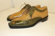 BELVEDERE OSTRICH LEATHER ITALY SHOES  MEN'S SZ 9 M