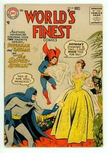 WORLD'S FINEST #85 VG 4.0 BATMAN SUPERMAN GREEN ARROW COMIC 1956