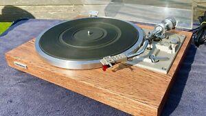 Pioneer PL-514 Turntable, Empire Cart, New Stylus, Hickory Veneer
