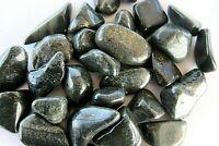 Black Lemurian Jade One Tumbled Stone 25mm Healing Crystal Absorbs Negative