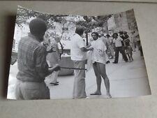 Photographie vintage Crazy man nude in Park Street troubles 20 cm x 25 cm Press