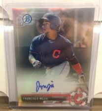 FRANCISCO MEJIA RC AUTO 2017 BOWMAN CHROME PROSPECT REFRACTOR 100/499 INDIANS
