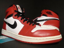NIKE AIR JORDAN I RETRO 1 HIGH OG CHICAGO BULLS WHITE RED BLACK 332550-163 10.5
