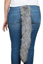 """Long Grey Wolf Tail Sexy Animal Womens Adult Costume Accessory 22"""""""