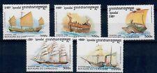 (W1078) CAMBODIA, 1996, SHIPS, MI 1649/53, SET, MNH/UM, SEE SCAN