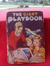 Vintage Rare 1936 The Giant Playbook Kids Toy Book