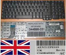 TECLADO NEW QWERTY UK HP PAVILION ZD7000 AENT1TPE019 C04080400E0 344898-031