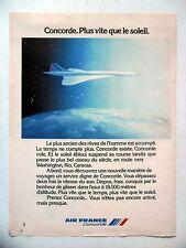 PUBLICITE-ADVERTISING :  CONCORDE - AIR France  1976 Avions