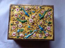 CHINESE CLOISONNE ENAMELED  BOX WITH BIRDS