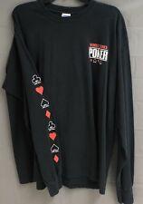 World Series of Poker Mens Long Sleeve T Shirt XL Black 100% Cotton
