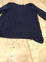 Next Navy boat neck Top  3/4 sleeve top/T-shirt size 10