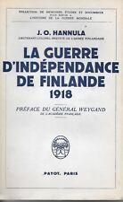 La guerre de Finlande TBE belles illustrations