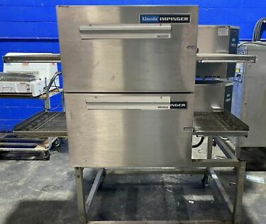 LINCOLN IMPINGER 1132 023A ELECTRIC DOUBLE STACK PIZZA CONVEYOR OVEN