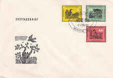East Germany DDR 1959 Birds of The Homeland FDC Set of 2  Unadressed VGC
