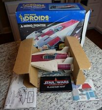 A-Wing Fighter 1984 1985 STAR WARS Droids Complete VINTAGE w INSERTS Working