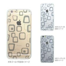Made in Japan ** Soft Clear TPU Case Rough Box Pattern for iPhone 6 & iPhone 6s