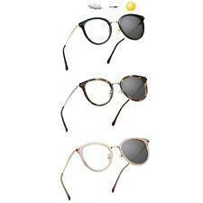 LifeArt Bifocal Reading Glasses,Photochromic Dark Grey Sunglasses.