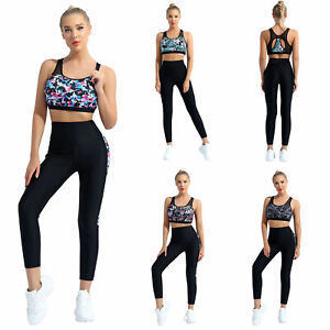 Women's Sport Suit Yoga Sets Stand Collar Short Sleeves Gym Yoga Workout Outfits