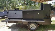 GodZilla BBQ Pro Smoker Grill Trailer Food Mobile Catering Business Barn Doors