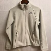 Fuzzy Grey White The North Face Zip Up Jacket Size Small Womens