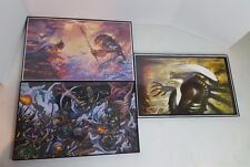 "Lot of 3 Alien, Predator Vs Batman, Predator Vs Boba Fett 11""x17"" Framed Prints"